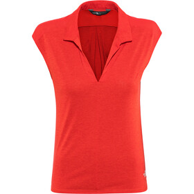 The North Face Inlux T-shirt SL Femme, juicy red dark heather